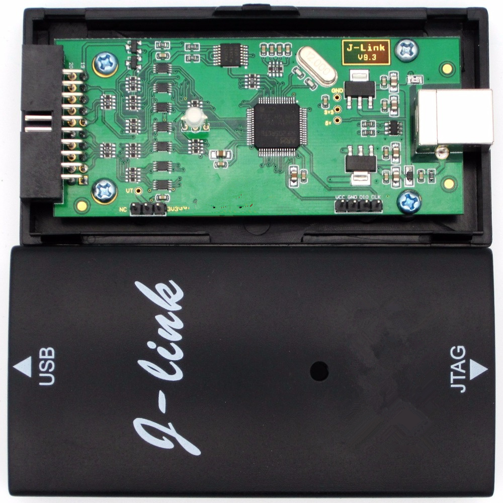 For JLINK V9 J-LINK V9.3 firmware upgrade automatically emulator+ pinboard for ARM7/9/11,Cortex-A5/7/8/9/12/15/17 simulator black plastic ads iar stm32 jtag interface jlink v8 debugger arm arm7 emulator cortex m4 m0
