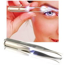 1pc LED Tweezer Eyelash Eyebrow Eyes Hair Remover Tools Stainless Steel Eyebrow Tweezers Pinzette Beauty stylish stainless steel eyebrow tweezers silver