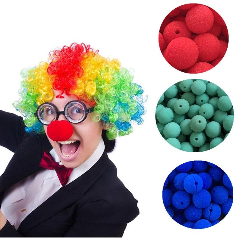 5//10//25Pcs 5cm Soft Sponge Red Clown Nose Party Festival Costume Carnival Circus