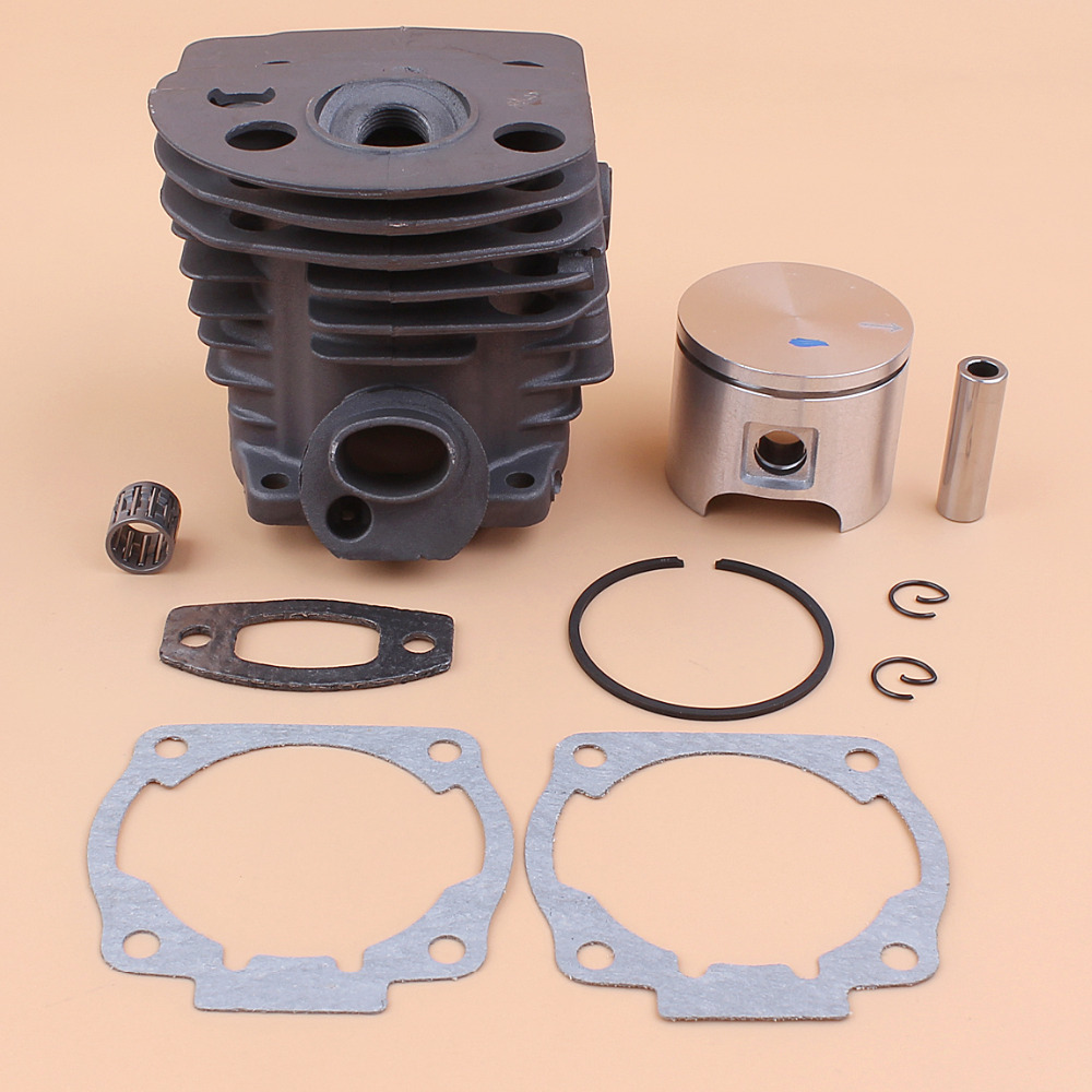 46MM Cylinder Piston Assy W/ Gasket Set For Husqvarna 51 55 RANCHER Chainsaw Engine Parts # 503 60 91 71 super power pdr tools kit paintless dent repair tools set car dent repair tool set glue gun dent puller set tools bag pdr tabs