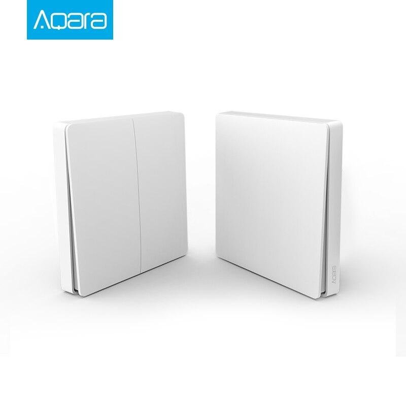 Original Xiaomi Aqara interruptor inteligente luz Control remoto ZiGBee wifi llave inalámbrica interruptor de pared funciona con mijia Mi aplicación para el hogar