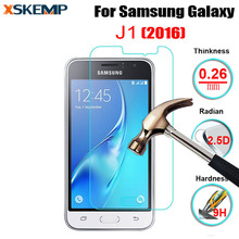 No Fingerprint Ultra-thin Screen Protector Film Tempered Glass For Samsung Galaxy J1 2016 Protective Guard Film With Clean Tools