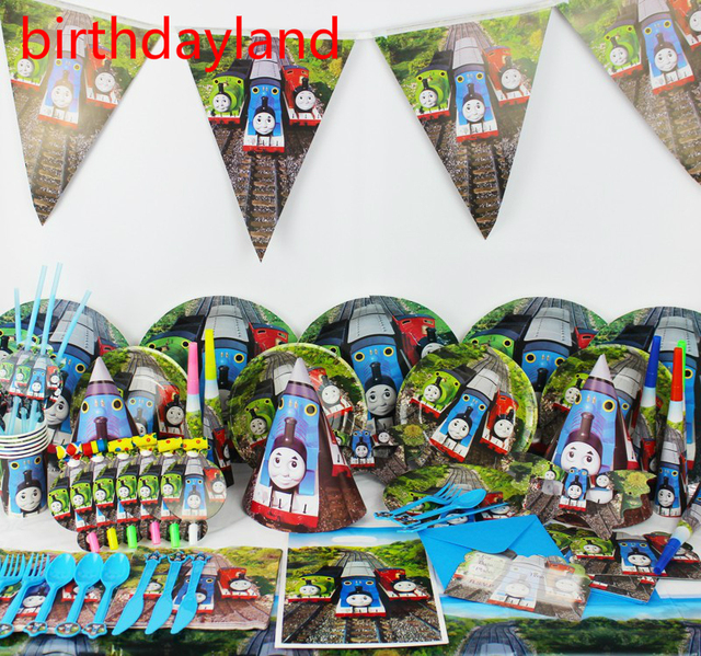 84pcs Kids Birthday Party Decoration Set Thomas train Theme Paper Cups+Paper Plates+Paper  sc 1 st  AliExpress.com & 84pcs Kids Birthday Party Decoration Set Thomas train Theme Paper ...
