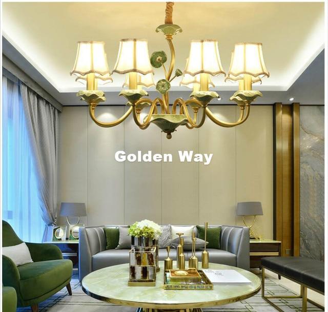 Neu Bronze Modernen Kupfer Keramik Kronleuchter für Schlafzimmer Esszimmer  Wohnzimmer Amerikanischen Luxus Hängeleuchten