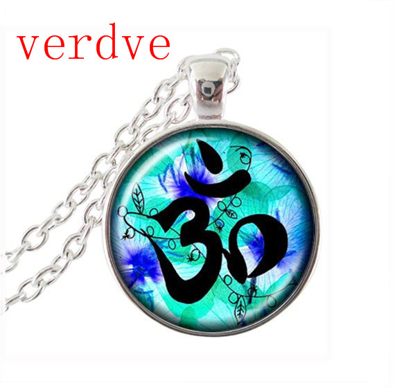 2017 New Collares Collier Flower Necklace Mandala Necklaces Pendants Charm Indian Jewelry Zen Long Pendant Chains Statement