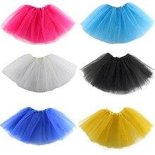 Летняя яркая детская юбка для маленьких девочек; одежда для подростков; шифоновая Пышная юбка-американка; юбка-пачка принцессы для вечеринки; одежда для балета