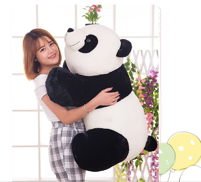 huge 70cm lovely gaint panda plush toy panda doll softh throw pillow Christmas gift w2479 lovely giant panda about 70cm plush toy t shirt dress panda doll soft throw pillow christmas birthday gift x023