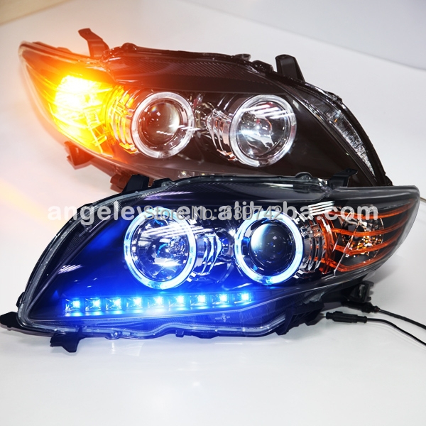 For Toyota Corolla Altis LED Head Lamp For Toyota 2008-2010 year Blue House White LED гелево тканевый altis fresco в красноярске