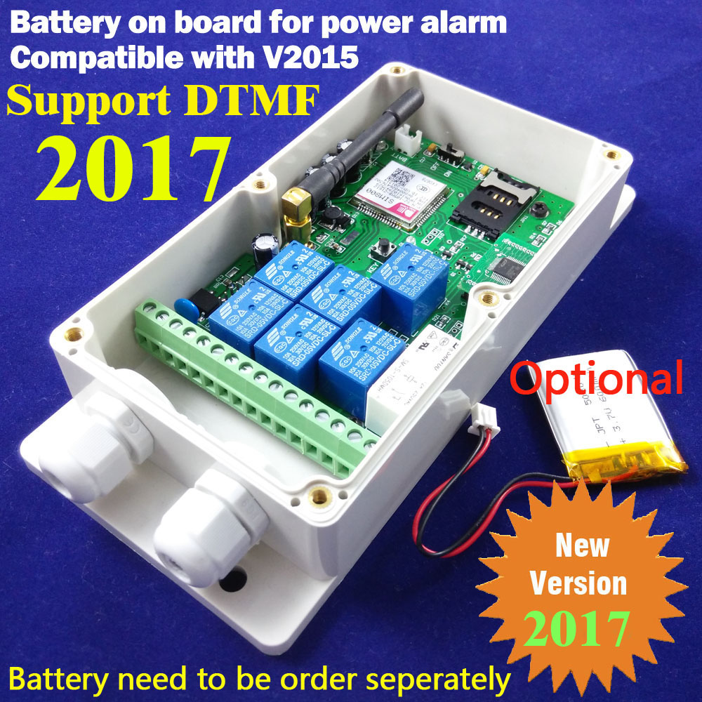 Battery On Board For Power Off Alarm Gsm Remote Relay Switch 16 Segment Timer For Automatically Output Working