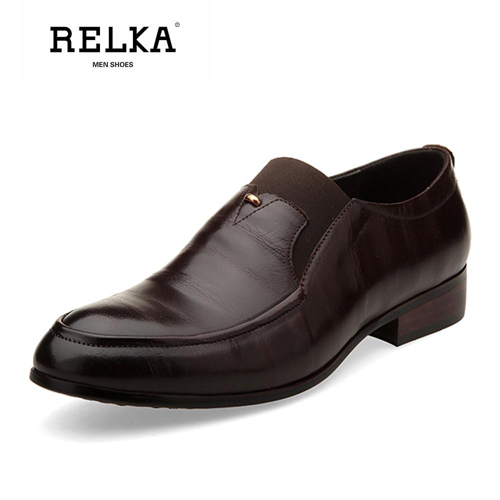 Blue Chaussures Talon brown Bout Rond Faible Pour En Cuir Solide Main Doux Mode Haute yellow on Hommes Décontractées Qualité De P21 Relka Slip Véritable qUzpGSVM