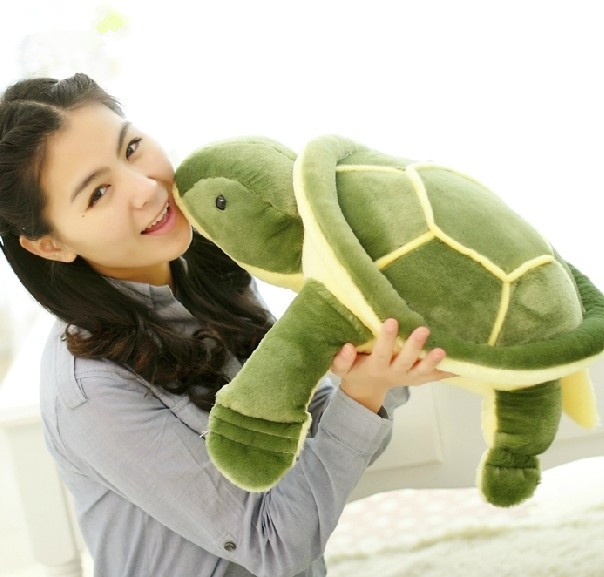about 50cm green turtle plush toy throw pillow ,Christmas gift h916 2017 new arriving 40cm big eyes turtle plush toy turtle doll turtle kids as birthday christmas gift free shipping