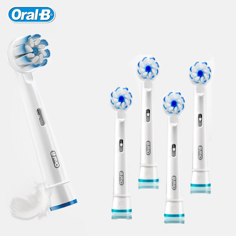 Replacement Electric Toothbrush Heads Super Soft Gum Protect Braun Oral B Brush Heads Nozzle Stain Removal EB60 Deep Cleaning image