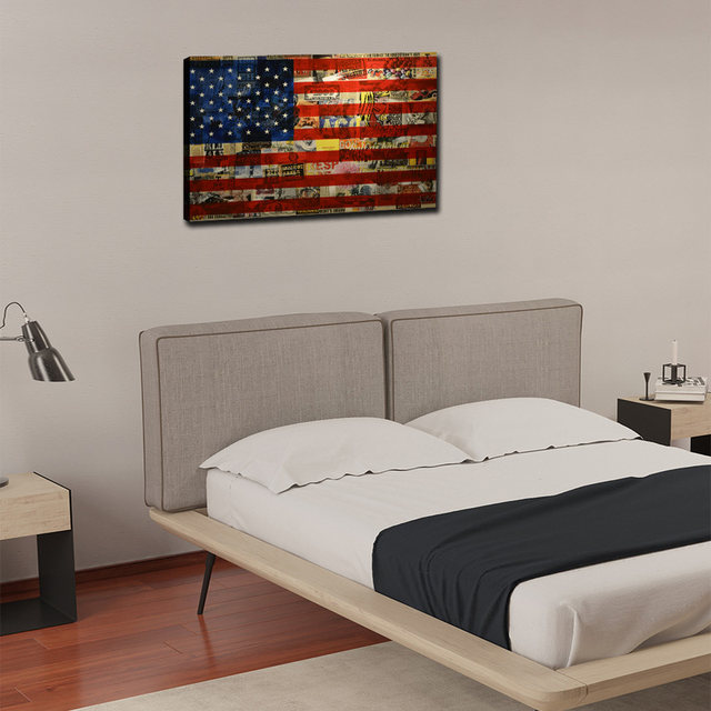 American Flag Wall Art, Modern Canvas Prints Wall Art Hanging Paintings Wall  Decor Artwork For Living Room Bedroom Wall Decor