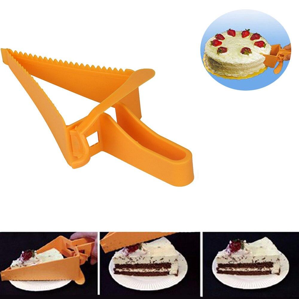 TENSKE New Cake Pie Slicer Sheet Guide Cutter Server Bread Slice Kitchen Gadget *23 hogar cocina 2017 hot sale