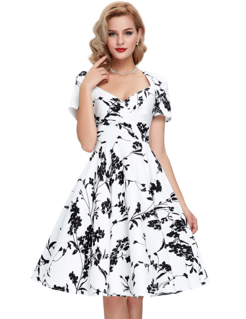 e5a2ff8f9f New 60s swing pinup dresses 2016 Summer Women Casual Retro Robe 50 Vintage  Dress Big Size Cheap Vestidos Femininos short sleeve