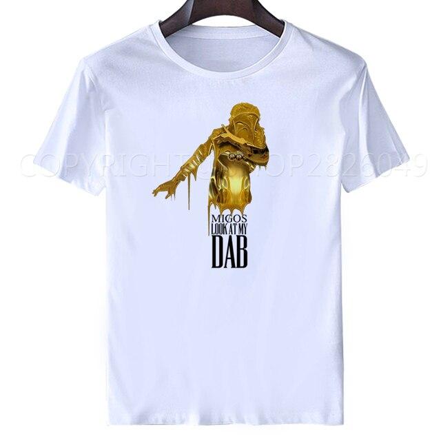 496904473 VENDA QUENTE 2018 Nova Marca de Moda Roupas Masculinas migos camisa de t  Manga curta Slim