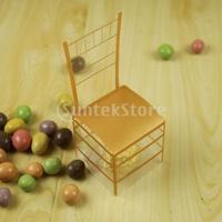 Nuovo arriva 50 pz novità oro sedia design scatole e confezioni per dolci regalo della festa nuziale favore holder