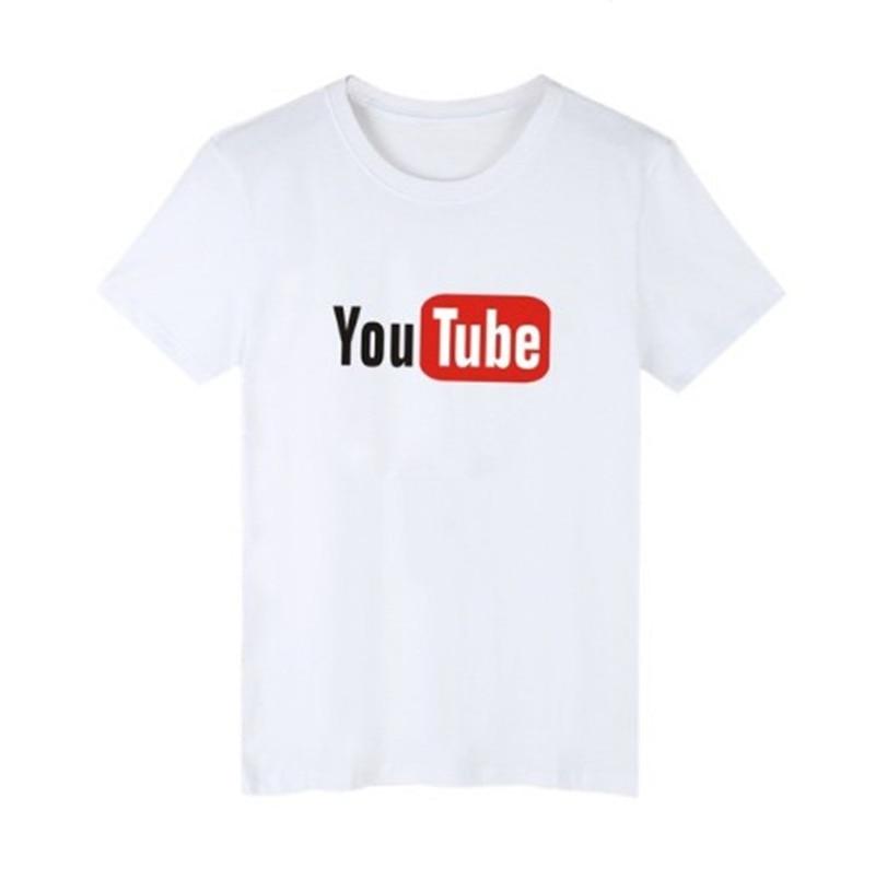 0cab7bfa Youtube Logo Printed T-shirt For Women Summer You Tube T Shirt Youtuber  Fangirl Tee