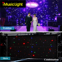 3x6Mtr DMX LED Starcloth System, Black Cloth RGBW LED Curtain Backdrop With Controller System