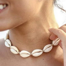 FineToo Handmade Braided Hemp Macrame Shell Choker Bohemian Beach Necklace Statement Necklaces for Women Collier Femme(China)