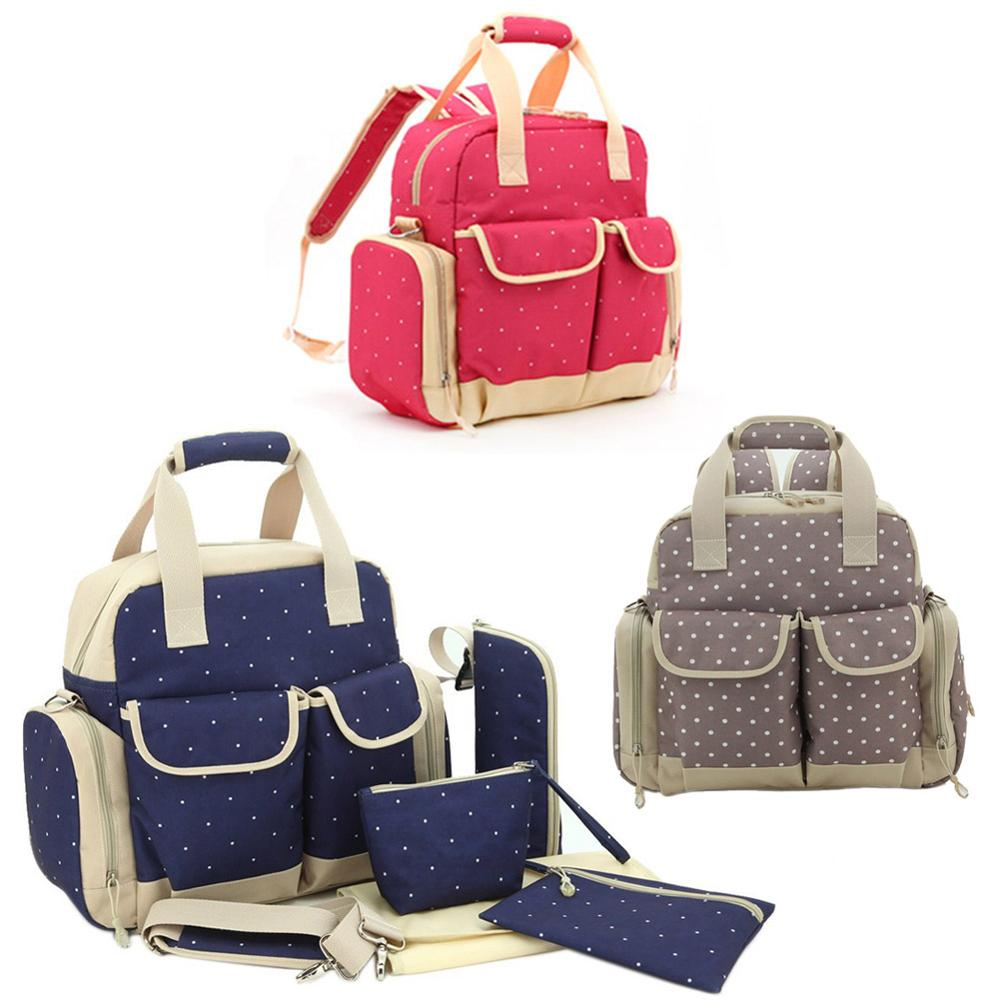 ФОТО Multifunction Diaper Tote Bags Baby Nappy Bag Large Portable Mummy Handbag Backpack bolsas sac a langer carriage Dropshipping