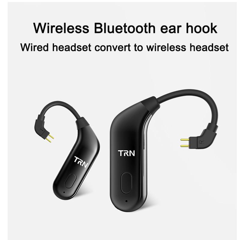 TRN BT20 MMCX Adattatore Bluetooth per Shure SE215 SE535 SE846 0.75mm 2 pin per ZSR ZS10 ES3 0.78mm per um3x w4r um18 es5 ue11 ue18
