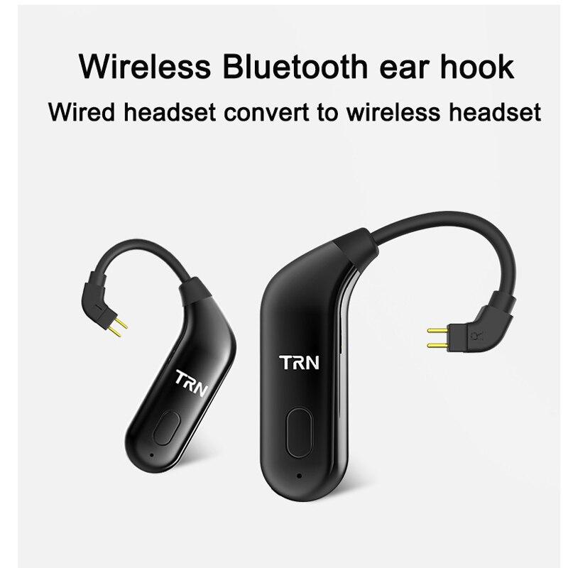 TRN BT20 MMCX adaptador Bluetooth para Shure SE215 SE535 SE846 0,75mm 2 pin para ZSR ZS10 ES3 0,78mm para um3x w4r um18 ue11 es5 ue18