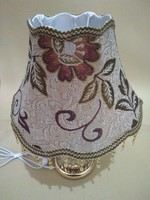 Lamp shade for table lamps E27 coffee color fabric Up and down the waves lamp shades