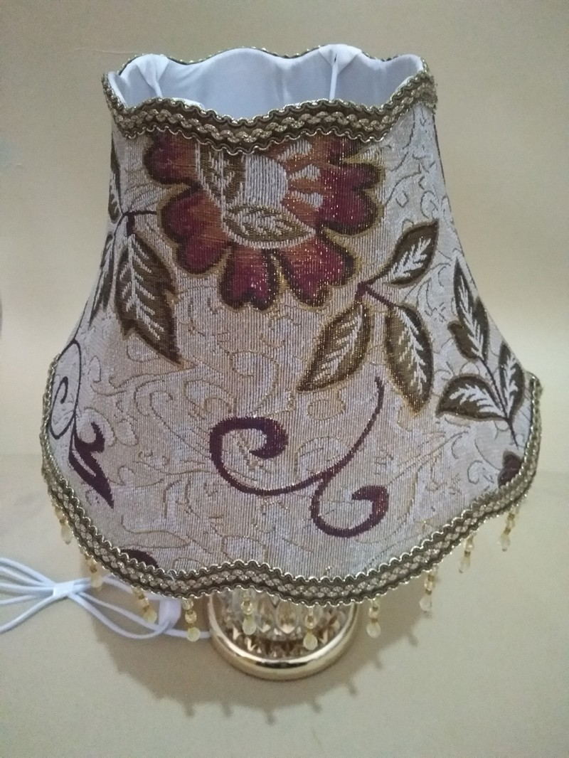 цены на Lamp shade for table lamps E27 coffee color fabric Up and down the waves lamp shades в интернет-магазинах