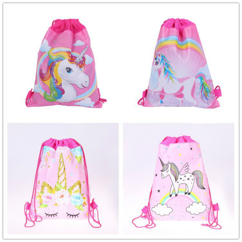 1pcs Unicorn Non-woven Bag Draw Pocket Fabric Backpack Child Travel School Bag Decoration Mochila Drawstring Gift Bag1pcs Unicorn Non-woven Bag Draw Pocket Fabric Backpack Child Travel School Bag Decoration Mochila Drawstring Gift Bag
