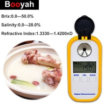 Booyah Brix Salinity 2 in 1 Digital Refractometer Food Soup Saltiness Test Precision 0-50% Sweetness Meter 0-28% Salinity Test цена 2017