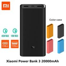 2019 NEW Xiaomi Power Bank 3 20000mAh Mi Powerbank USB-C 45W