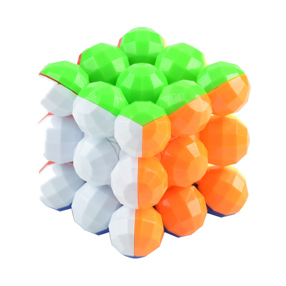 Balls Style Magic Cube Style 3 x 3 x 3 Colorful Cool Brain Teaser Educational Toy