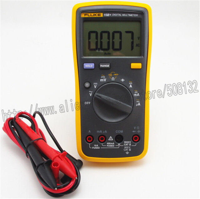 Fluke Capacitor Meter : Fluke b digital multimeter meter tester dmm with tl