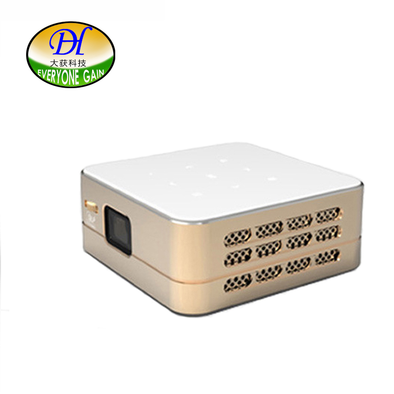 Android DLP LED Portable Projector With Wireless WIFI HDMI Support 1080P Bluetooth Built in Battery Speaker