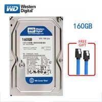 "WD BLUE brand 160GB internal hard disk 3.5"" 7200RPM SATA HDD 3Gb-6Gb/s 160G HD hard disk for desktop computers Free shipping"