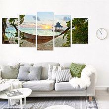 Beautiful scenery seascape canvas wall decoration  living room bedroom household oil painting fresco high-definition spray