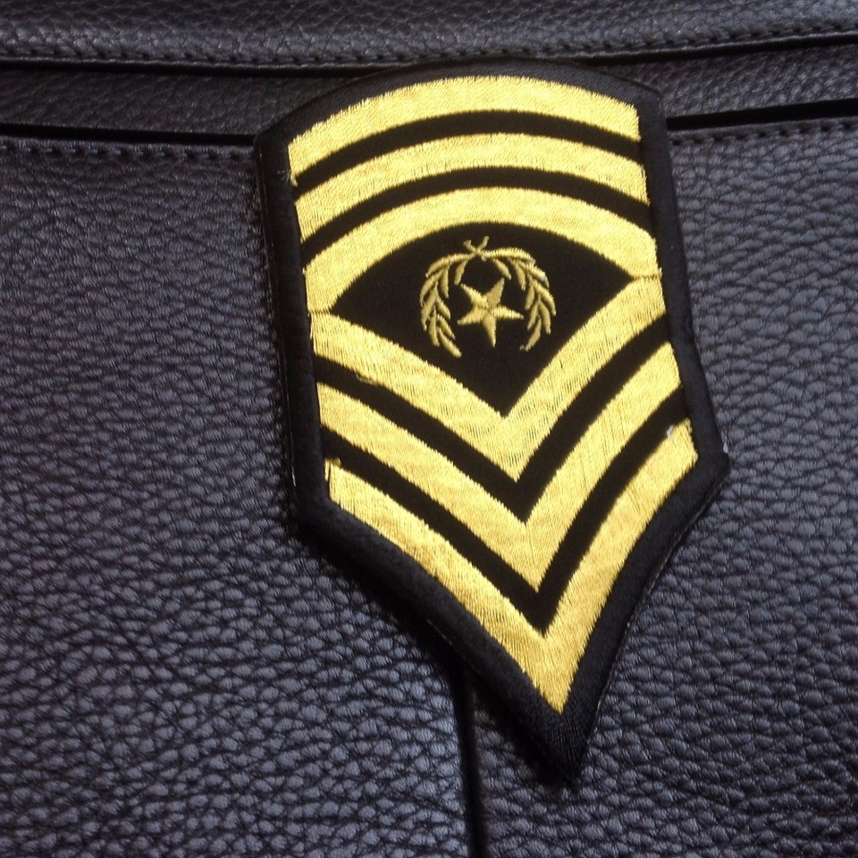 Us Military Insignia Patch Rank Sew On Command Sergeant Major Csm