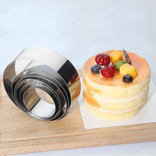 6Pcs Stainless Steel Round Shape Mousse Ring Mould DIY Set Circle Kitchen Cake Decoration Mold Baking Tool