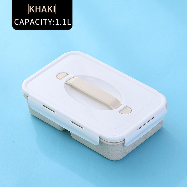 Khaki Cheap bento boxes silicone collapsible 5c6479e2ed796