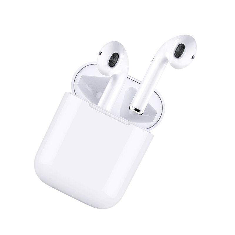I9 TWS auriculares Bluetooth auriculares bajos estéreo Mini Wireless Earpods auricular del deporte para el teléfono con micrófono HD Charing caja i7s i8