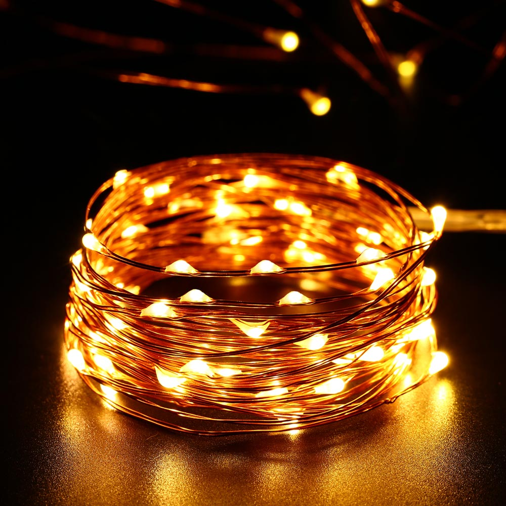 New 5M 50LED 3AA Battery Powered Copper Wire String Led Lights Indoor  Outdoor Fairy Led Lights For Xmas Garland Party Wedding  In Lighting Strings  From ...