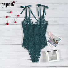 Gagaopt 5 Colors Lace Bodysuit Women Floral Embroidery Elegant Bow Ladies Sexy