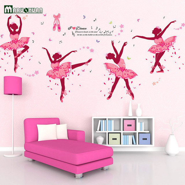 Aliexpresscom Buy Maruoxuan Four Pink Girls Dancing Ballet Wall - Vinyl stickers designaliexpresscombuy eyes new design vinyl wall stickers eye wall