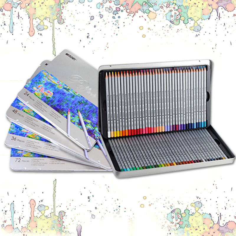 Marco Raffine 72 Colors Lapis De Cor Professional Oil Colored Pencil Set For Drawing Painting Sketch Tin Box Art School Supplies marco raffine fine art colored pencils 24 36 48 colors drawing sketches mitsubishi colour pencil for school supplies