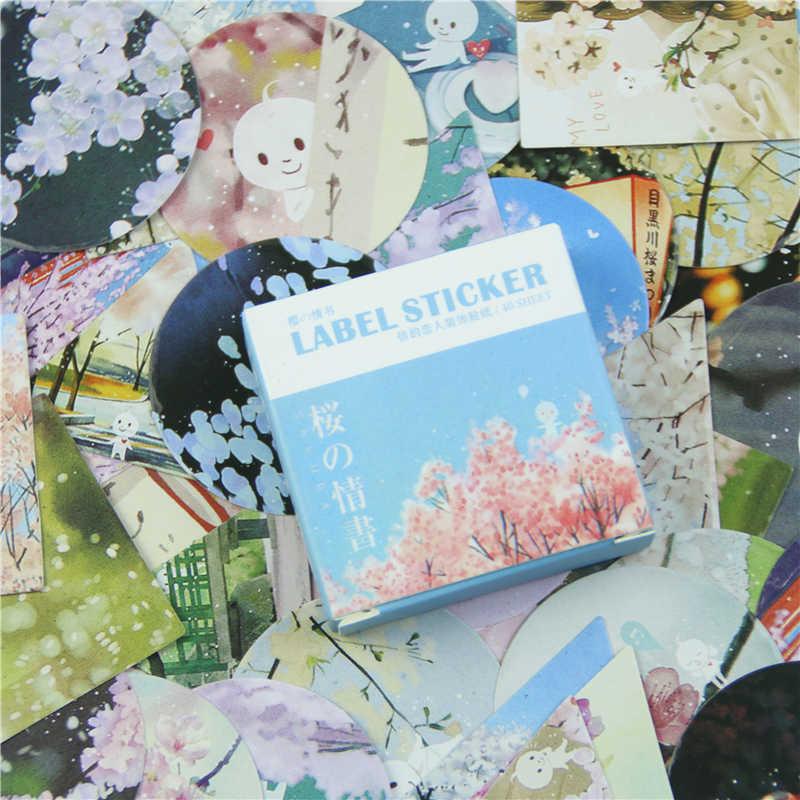40 шт./кор. милый Вишневый Мини бумажный стикер набор украшения Diy дневник в стиле Скрапбукинг уплотнительная кавайная наклейка
