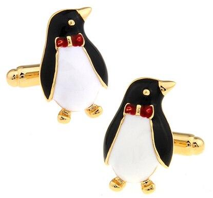 492d41b1ec9 Preço de fábrica Varejo Novelyu Animal Abotoaduras Para Os Homens de Design  de Moda Material de Cobre Pinguim de Ouro Abotoaduras Frete Grátis em Clips  Tie ...