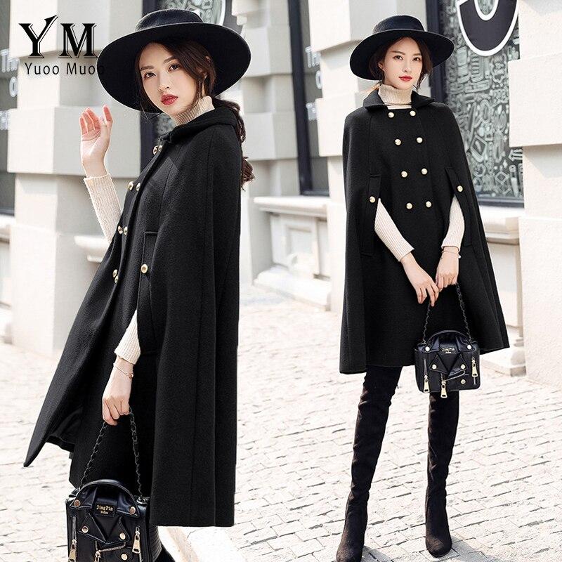 YuooMuoo New 2018 Brand Design Coat Women Winter Elegant Cloak Coat High Quality Female Overcoat Wool Jacket casaco feminino