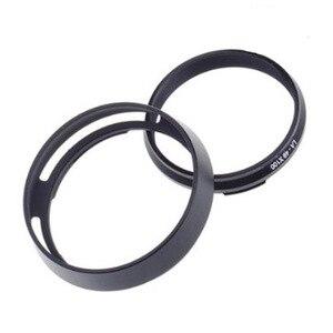 Image 5 - Foleto Metal Lens Hood Shade + 49mm Adapter Ring for Fujifilm X100F X70 X100T X100S LH X100 Back Silver LA 49 X100