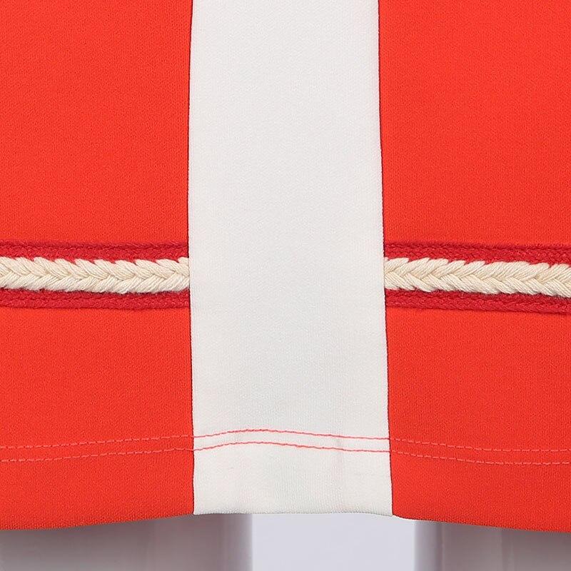 Tablecloth - A Line 60s Vintage Autumn Turtleneck Colour Block Dress Vintage Style
